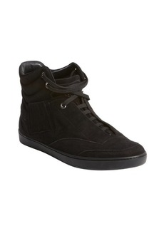 Christian Dior black suede lace up hi top sneakers
