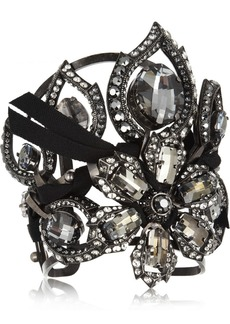Lanvin Floral crystal cuff
