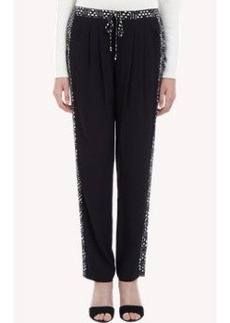 Twelfth Street by Cynthia Vincent Abstract-Print Tuxedo-stripe Pants