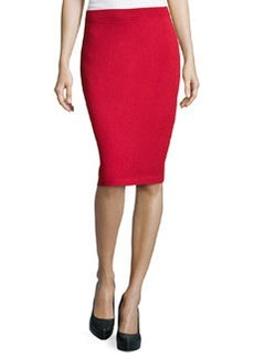 St. John Signature Santana Knit Pencil Skirt, Ruby