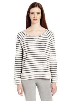 Calvin Klein Performance Women's Long Sleeve Stripe Sweatshirt