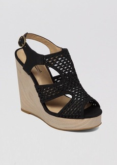 Lucky Brand Open Toe Platform Wedge Espadrille Sandals - Remy Crochet