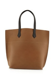 All In Leather Tote Bag, Brown/Black   All In Leather Tote Bag, Brown/Black