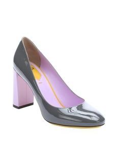 Fendi asphalt patent leather 'Eloise' colorblock pumps