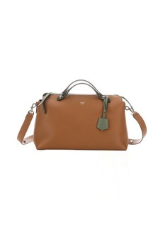 Fendi barley and forest green colorblock leather convertible bag
