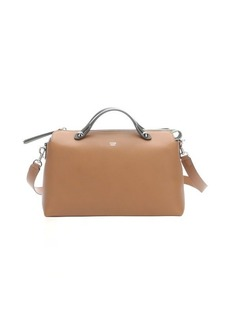 Fendi beige and green leather 'By the Way' medium convertible bag