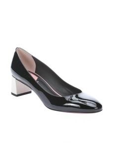 Fendi black and milk patent leather pumps