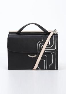 Fendi black and pink leather 'Demi Jour' split shoulder bag
