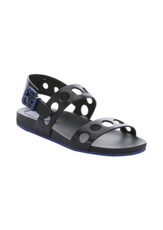 Fendi black leather cut-out strappy sandals