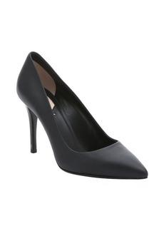 Fendi black leather 'Decollete' stiletto pumps