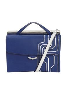 Fendi blue and grey leather 'Demi Jour' split shoulder bag