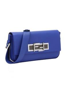 Fendi blue neon leather '3Baguette' convertible shoulder bag