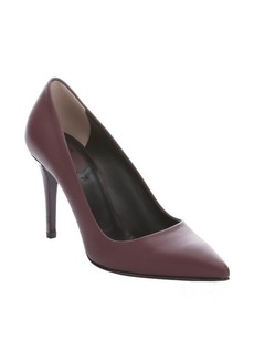 Fendi bordeaux leather 'Decollete' pointed toe stiletto pumps