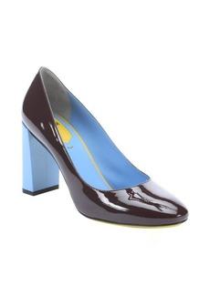 Fendi bordeaux patent leather 'Eloise' colorblock pumps