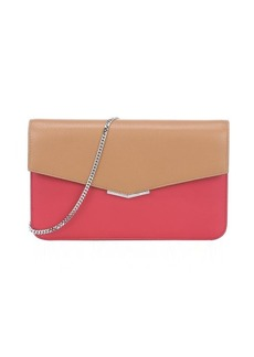 Fendi brick and barley leather convertible envelope clutch