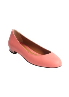 Fendi bright pink leather ballet flats