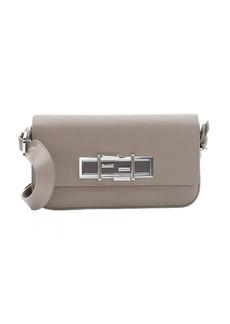 Fendi brown leather '3Baguette' convertible shoulder bag