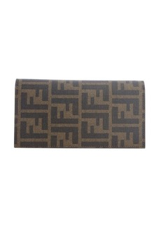 Fendi brown zucca coated canvas continental wallet