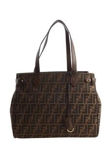 Fendi brown zucca pattern canvas shopper tote