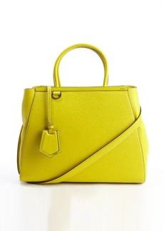 Fendi citrus lime leather '2Jours' medium convertible tote