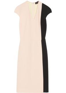 Fendi Color-block crepe dress