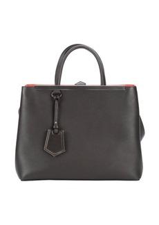 Fendi dark brown leather '2Jours' convertible tote bag