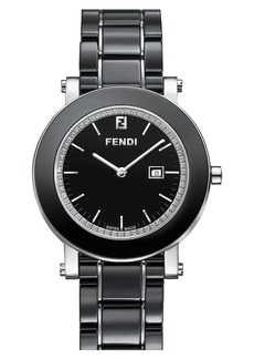 Fendi Diamond & Ceramic Round Watch, 38mm (Regular Retail Price: $2095.00)