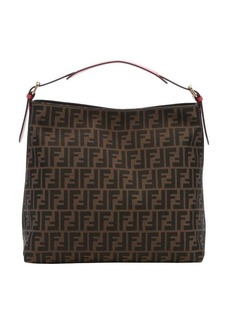 Fendi ecstasy leather and tobacco zucca canvas large hobo bag