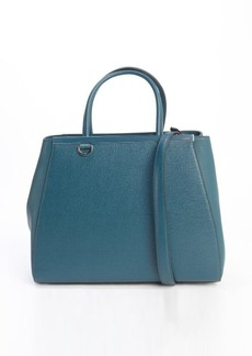 Fendi forest green leather '2Jours' medium convertible tote