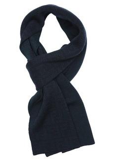 Fendi green wool zucca chevron pattern reversible scarf