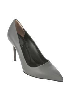 Fendi grey leather 'Decollete' pointed toe stiletto pumps
