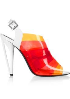 Fendi Iridia dégradé PVC and patent-leather sandals