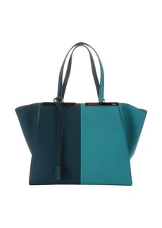 Fendi lake and ocean colorblock leather '3Jours' tote