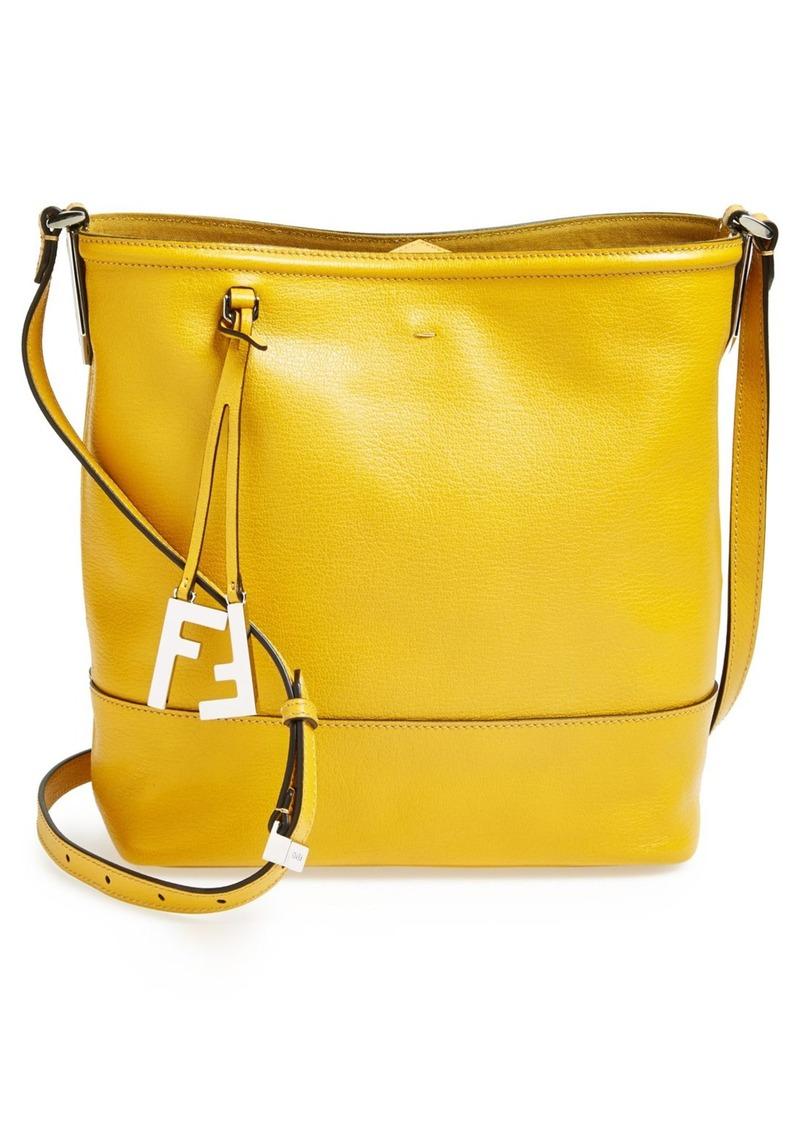 a275c78a52 Fendi Fendi Leather Bucket Crossbody Bag
