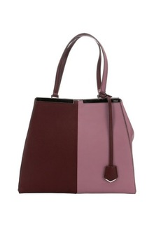 Fendi lilac and plum colorblock leather '3Jours' tote