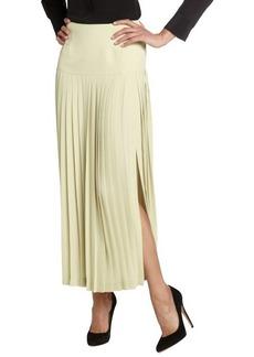 Fendi lime pleated long skirt