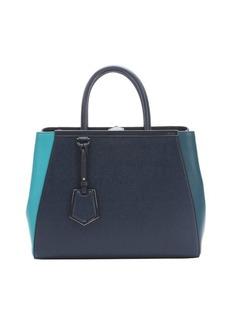 Fendi mix ocean and navy leather medium '2Jours' shopper bag