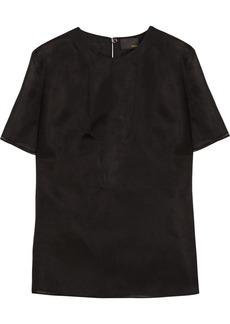 Fendi Paneled silk-gazar top