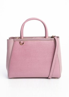 Fendi pink leather '2Jours' petite convertible top handle bag