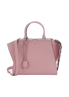 Fendi pink leather '3Jours' crocodile tail convertible tote
