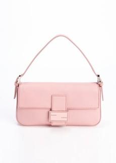 Fendi pink leather mini baguette handbag