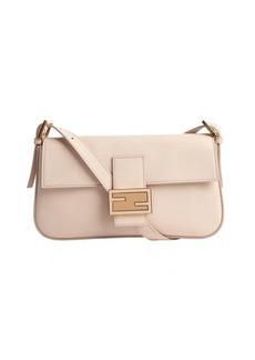 Fendi pink leather mini baguette shoulder bag
