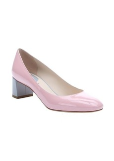 Fendi pink powder patent leather colorblock pumps