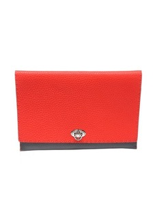 Fendi poppy leather 'Alda' colorblock clutch