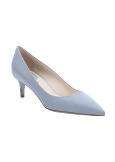 Fendi powder leather pointed toe kitten heel pumps