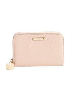 Fendi poweder crosshatch leather small zip wallet