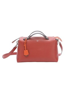 Fendi red and orange leather 'By the Way' medium convertible bag