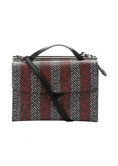 Fendi red and white spalmati coated canvas 'Demi Jours' bag