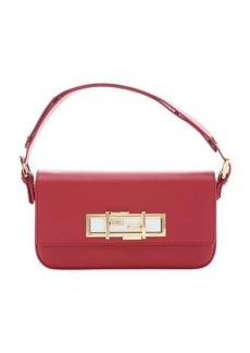 Fendi red calfskin '3Baguette' convertible shoulder bag