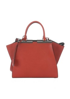 Fendi red leather '3Jours' convertible tote bag